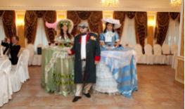 Свадьба в стиле Гусары в Москве, леди фуршет, гусарский дресс код.