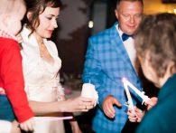 Зажжение семейного очага на свадьбе