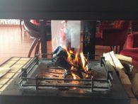 Valesko Hotel&Spa горящий камин дрова